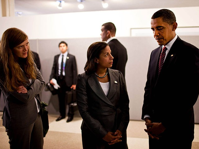 President Obama and Susan Rice, both caught up in the unmasking scandal of General Michael Flynn