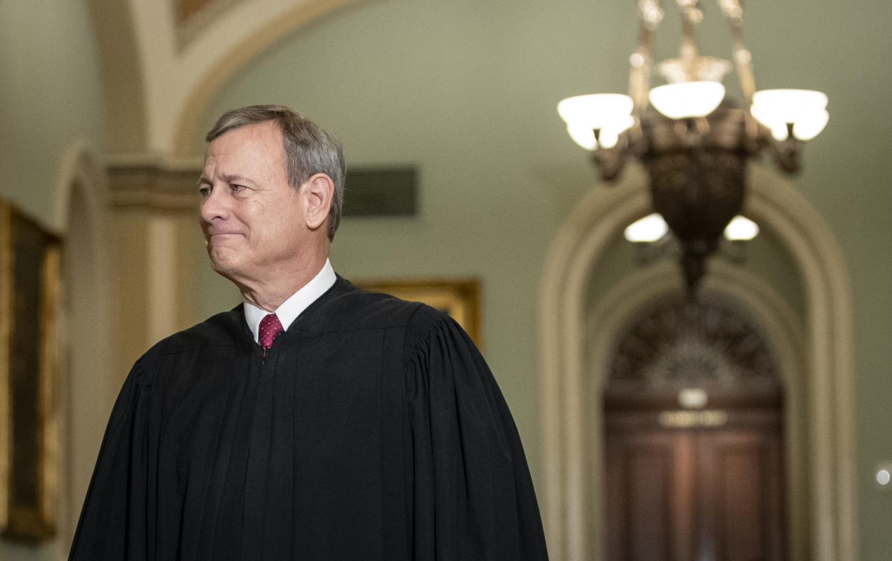 Justice John Roberts sided with the liberal justices leading to a 5 to 4 decision siding with the state of California